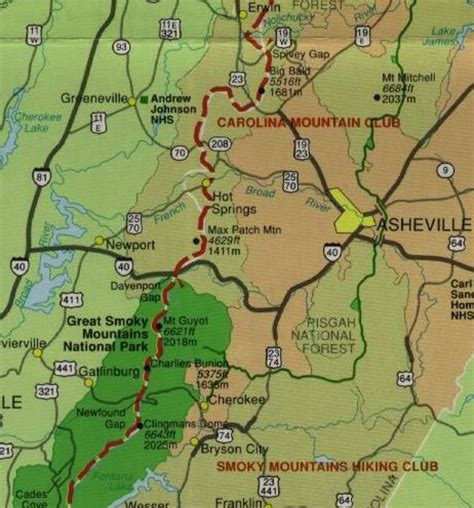 appalachian trail carolina map appalachian trail asheville and asheville carolina