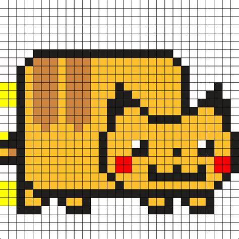 pikachu perler bead template nyan pikachu perler bead pattern bead sprites