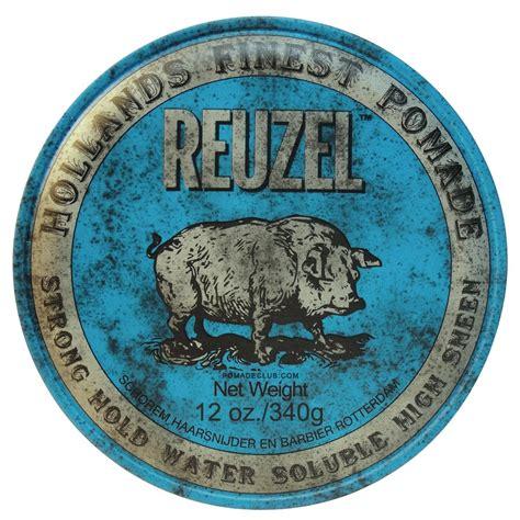 reuzel blue strong hold water based pomade 12oz hog