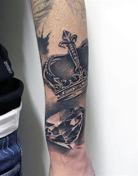 diamond tattoo between eyes 100 crown tattoos for men kingly design ideas