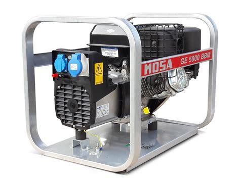 mosa ge 5000 bbm 5 kva single phase petrol generator tbws