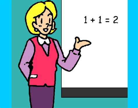 imagenes para trabajar matematicas dibujo de maestra de matem 225 ticas pintado por jhoayy en