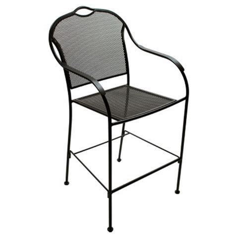 Black Metal Bistro Chairs New 2 Pack Iron Bar Height Patio Outdoor Bistro Chairs Black Metal Cafe Seats