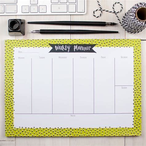 Weekly Desk Planner Pad by Seeing Spots Weekly Planner Desk Pad By Betty Etiquette
