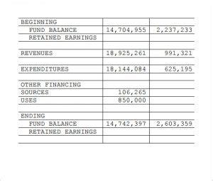 treasurer s report template template business