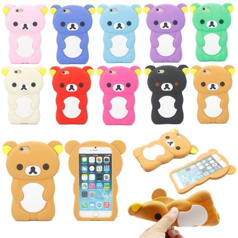 Iphone 6 4 7inchi 3d Teddy Brown Soft Silicone T1910 1 3d animal silicone soft back cover for iphone 6 6s 4 7 quot ebay