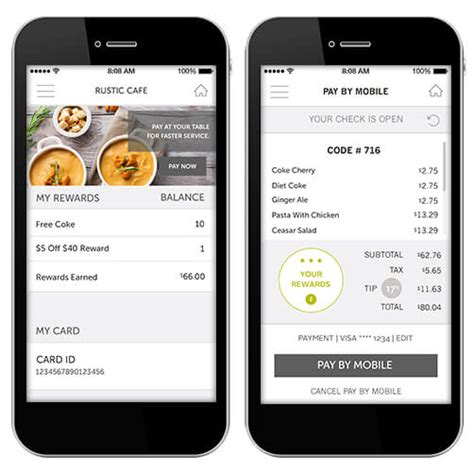 pay at table restaurant mobile ordering delivery in store kiosks tillster