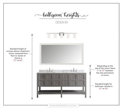 how high should a bathroom vanity be how high to place your bathroom fixtures inspired to style