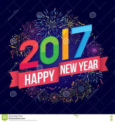 new year theme happy new year 2017 stock vector image 77106494