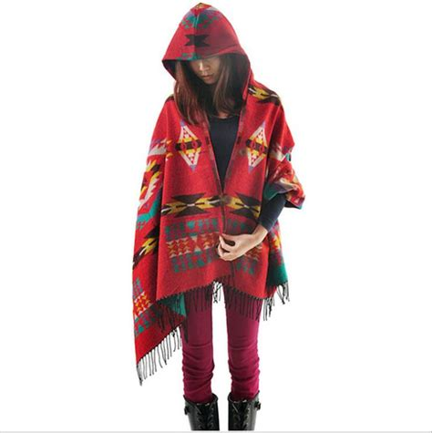 Selimut Bayi Hoodie Blanket Ee0103 Limited bohemian cape poncho shawl scarf tribal fringe hoodies