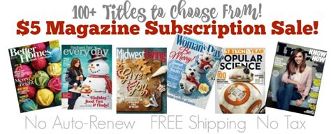 5 magazine subscription sale 100 titles shesaved 174