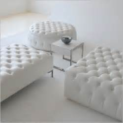 tufted leather cocktail ottoman foter