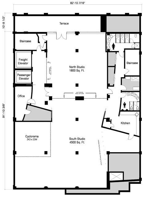 photography studio floor plans large midtown west loft with terrace new york ny photo studio loft space and