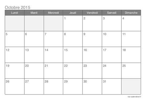 Calendrier 3 Octobre 2015 Calendrier 2015 Mensuel 12 Mois