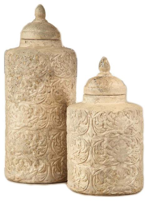 kitchen canisters and jars 2 camden sand finish ceramic canisters set