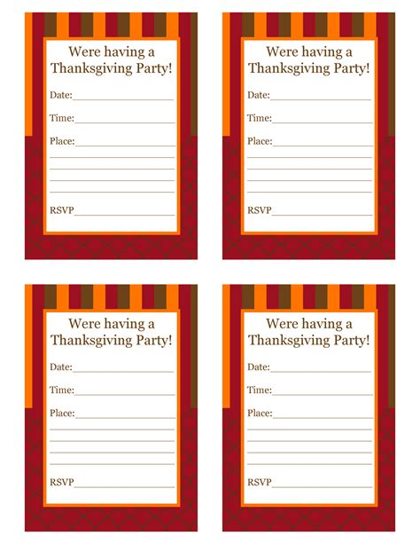 printable thanksgiving invitation free thanksgiving party printables from cupcake express