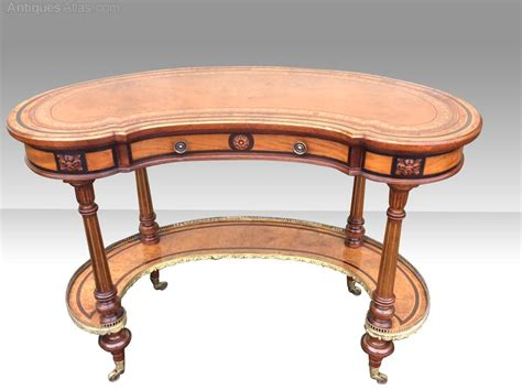 Gillows Antique Kidney Shaped Burr Walnut Desk Antiques Vintage Kidney Shaped Desk