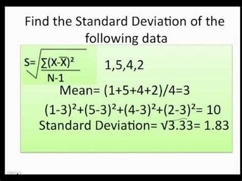 Find On By How To Find The Range Variance And Standard Deviation
