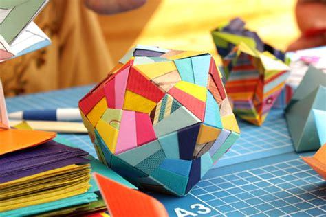 Modular Paper Folding - pin 3d origami sun flower or sunflower modular paper