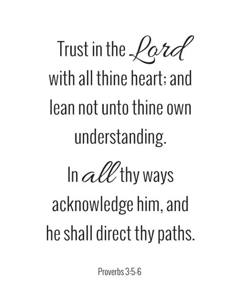 printable trust quotes free printable quote proverbs 3 5 6 fab n free