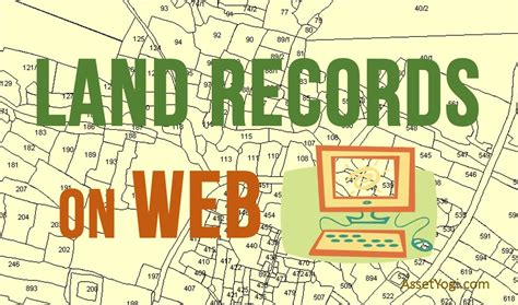 Home Deeds Records Land Records On Web Land Record System In India