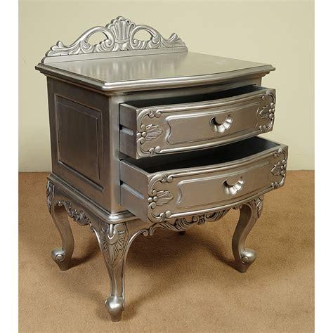 Nachttisch Silber by Silber Nachttisch Kommode Rokoko Barock 2 Schubladen