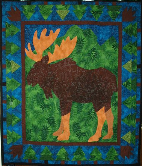 Moose Quilt by 187 Moose Quilt Pattern