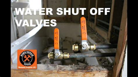 install  shark bite shut  valve   bathroom