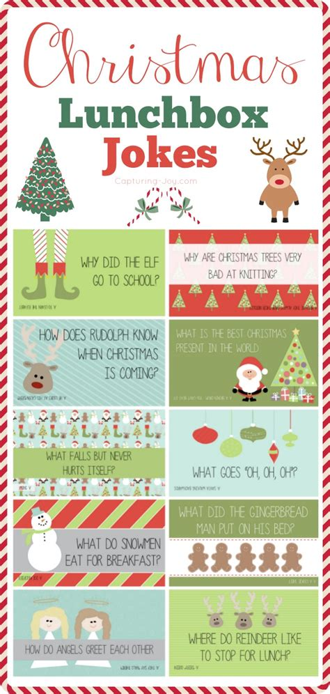 Free Printable Lunchbox Jokes Christmas | christmas lunchbox jokes