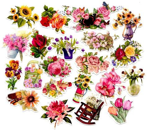 Beautiful Flower Stickers 421 best images about floral butterfly etc stickers on