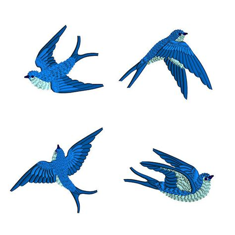 bluebirds tattoo design
