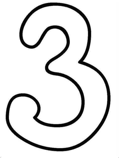 coloring page for number 3 numbers coloring pages print numbers pictures to color