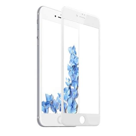 Kingkong Iphone 7 8 Soft White Tempered Glass Original baseus pet soft edge 3d tempered glass for iphone 7 white