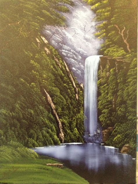 bob ross painting waterfalls waterfall paintings collins