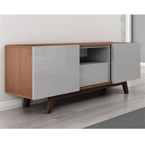 light grey tv stand furnitech ft70r modern tv stand media console up to 80 quot tv