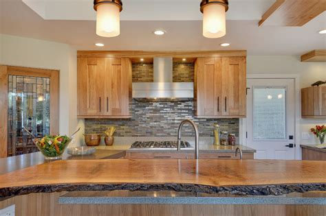 live wood edge island top contemporary kitchen san