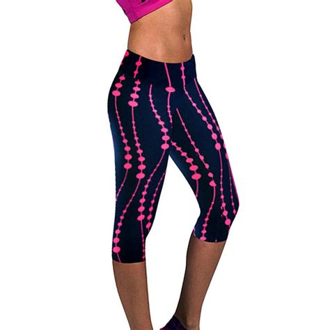 Stretch Tights womens sports high waist stretch printed