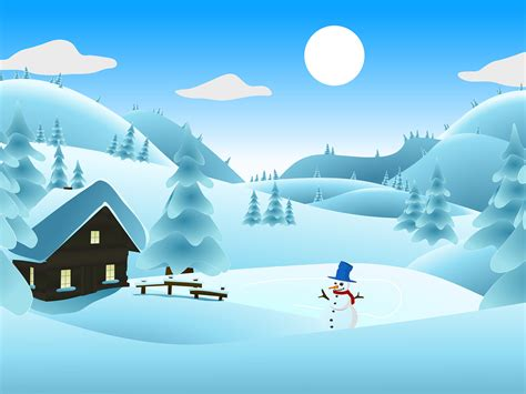winter powerpoint template winter landscape backgrounds powerpoint templates free