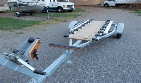 jon boat trailer rollers replacing boat trailer bunks wit