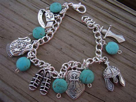 turquoise armor of god charm bracelet ephesians by amydavisart