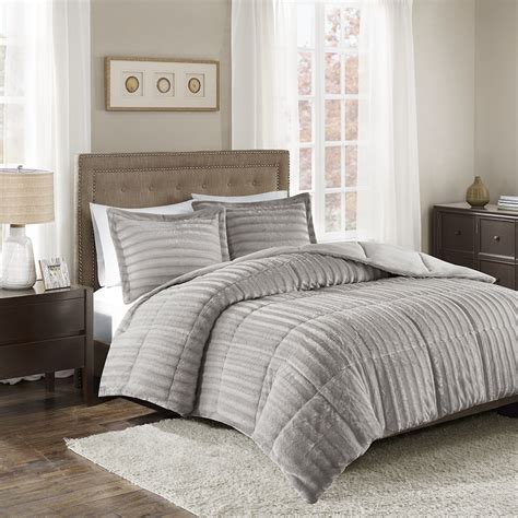 fur comforter madison park duke faux fur comforter mini set ebay