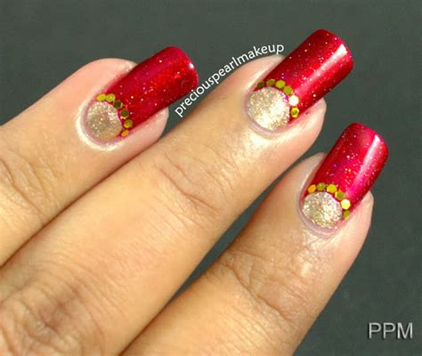 nail art tutorial in hindi preciouspearlmakeup indian bridal nail art and tutorial
