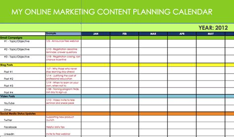 content marketing calendar template 6 useful content marketing tools and templates cooler
