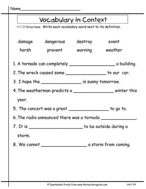 Context Clues Worksheets 2nd Grade by Context Clues Worksheets 1st Grade Worksheets For School