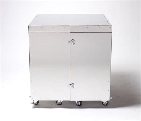 steel crate movable stainless steel crates by naihan li hide useful household furniture homecrux