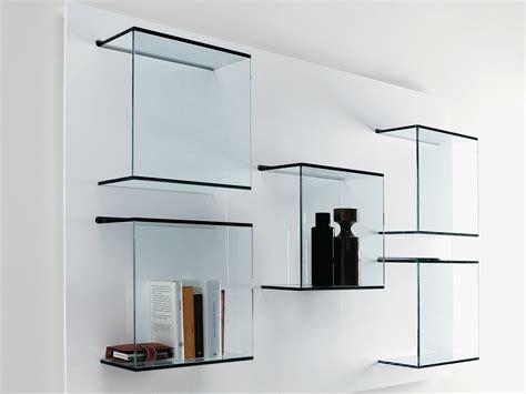 wall mounted glass bookcase dazibao by tonelli design
