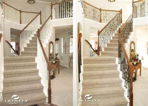 staircase remodel stair remodeling before after gallery stairstrinity stairs