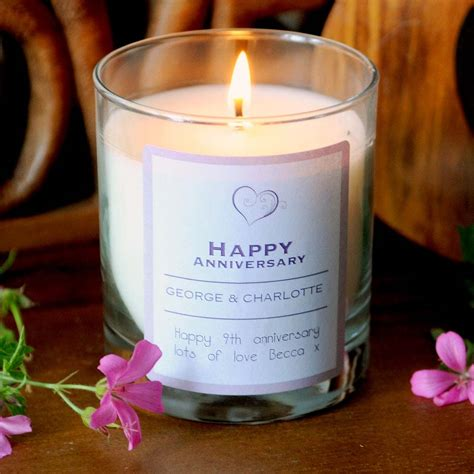 Wedding Anniversary Gifts Next Day Delivery by Personalised Happy Anniversary Scented Candle I Just It