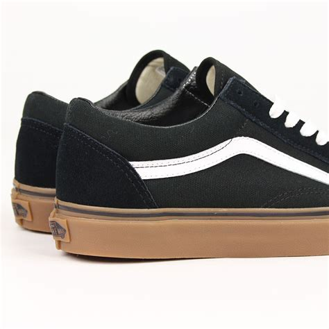 Vans Oldskool Black White Sole Gum Waffle Dt Premium Import vans shoes skool black gum white ebay
