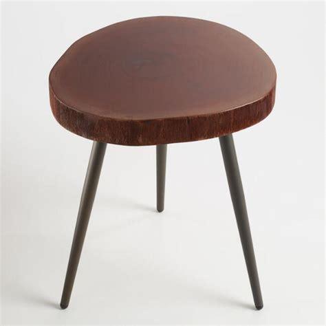 Brown Round Unique Wood World Market Coffee Table Hako Hako Coffee Table